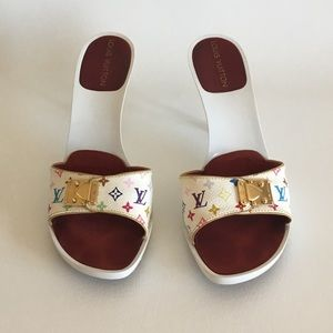 Louis Vuitton Multicolor white heel